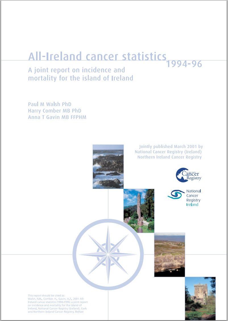 All Ireland Cancer Statistics 1994-1996