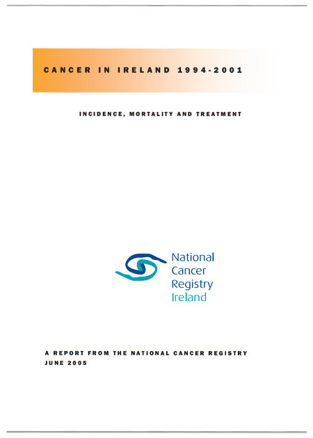 Cancer in Ireland 1994 to 2001