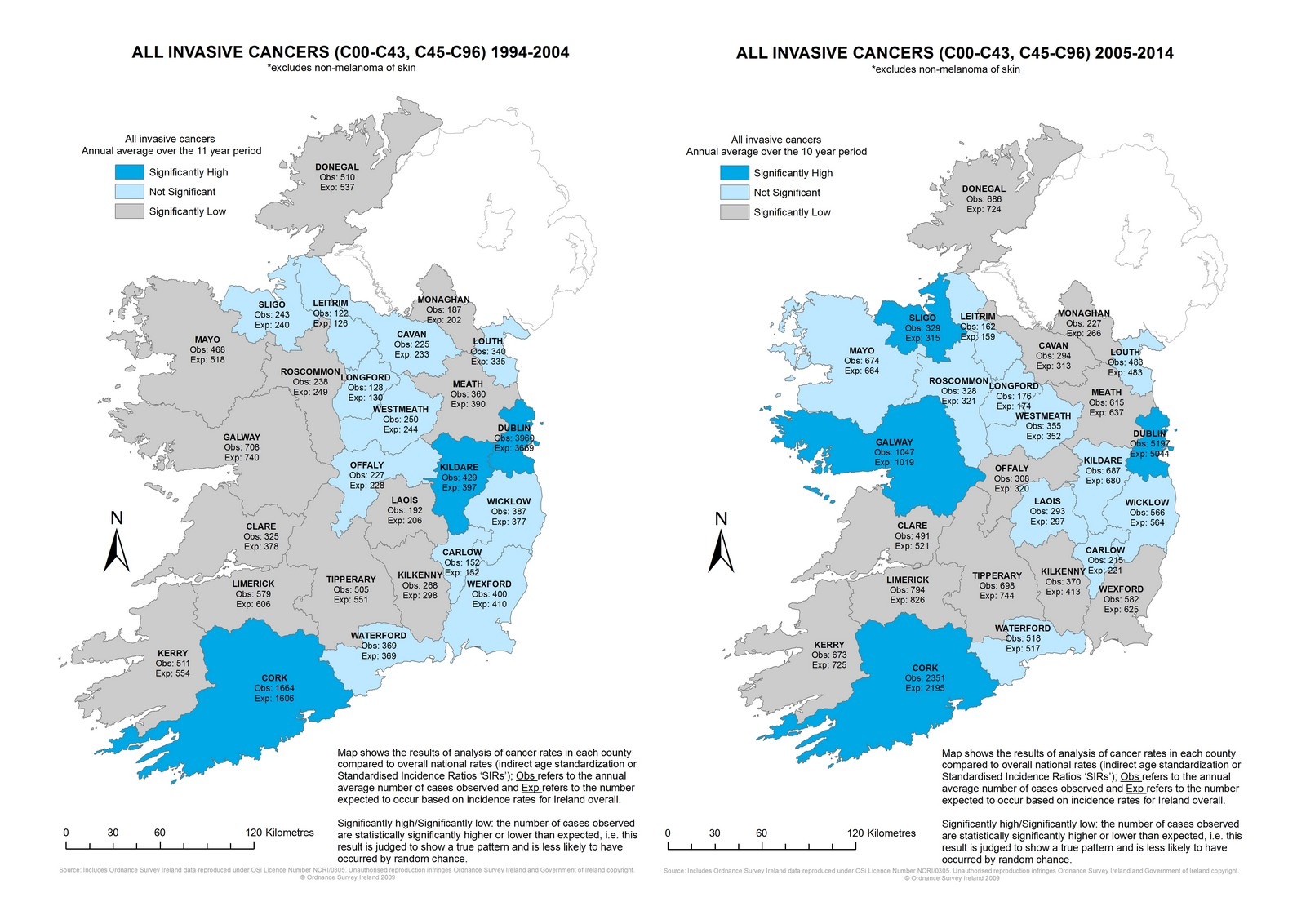 Incidence Rates Mapped National Cancer Registry Ireland - Map of cancer rates in us
