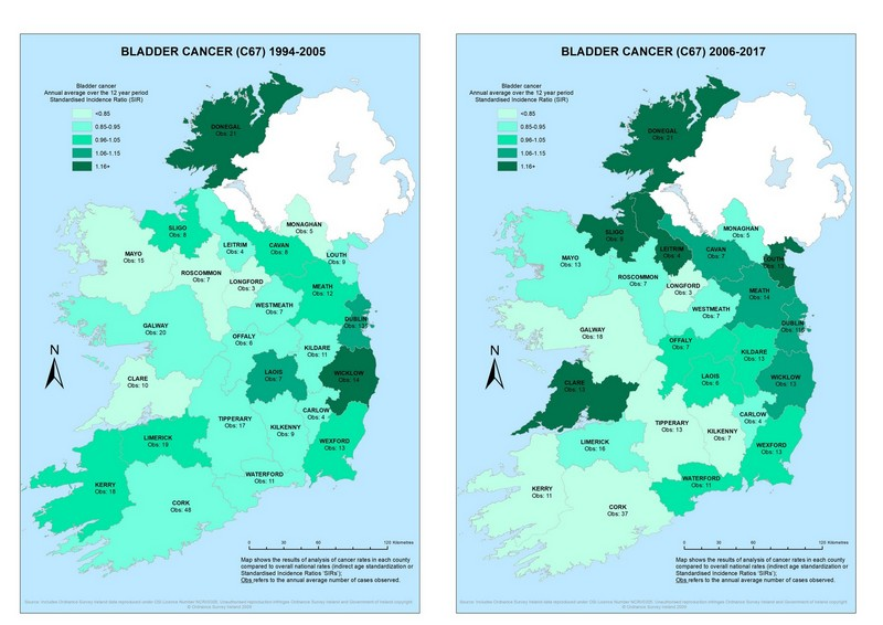 maps on cancer incidence rates