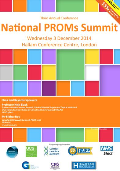 National PROMs (Patient Reported Outcome Measures) Summit 2014 | National Cancer Registry Ireland