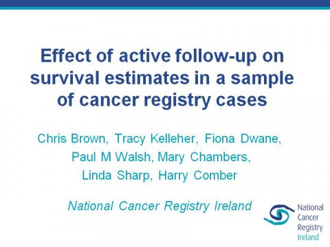 Image for Effect of active follow-up on survival estimates in a sample of cancer registry cases