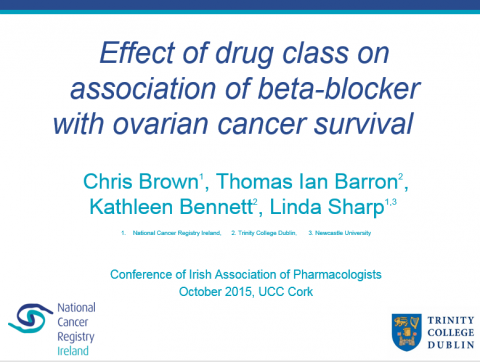 Image for Effect of drug class on association of beta-blocker with ovarian cancer survival
