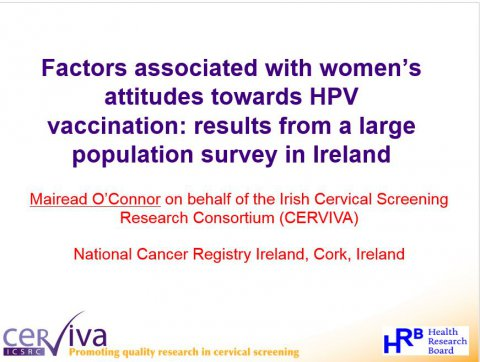 Image for Factors associated with women's attitudes towards HPV vaccination: results from a large population survey in Ireland