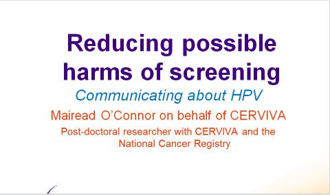 Image for Reducing possible harms of screening: communicating about HPV