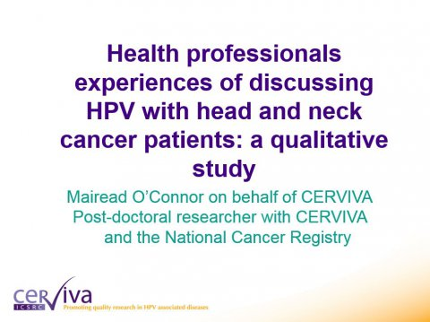 Image for Health professionals experiences of discussing HPV with head and neck cancer patients: a qualitative study