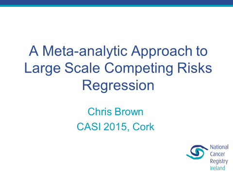 Image for A meta-analytic approach to large scale competing risks regression