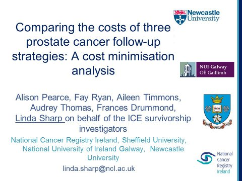 Image for Comparing the costs of three prostate cancer follow-up strategies: A cost-minimisation analysis (MASCC)