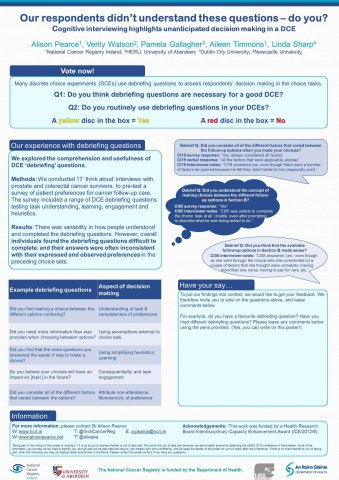 Image for Pre-testing with cognitive interviews highlights unanticipated decision making in a DCE