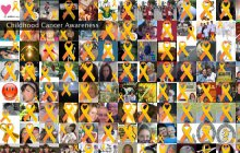 Childhood cancer montage