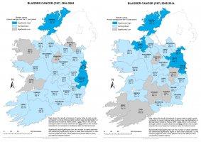 Bladder 1994-2004 & 2005-2014 annual average