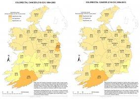 Colorectal 1994-2003 & 2004-2013 annual average