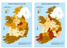 Hodgkin's Lymphoma 1994-2006 & 2007-2016 annual average