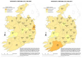 Hodgkin's Lymphoma 1994-2003 & 2004-2013 annual average