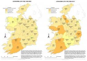 Leukaemia 1994-2003 & 2004-2013 annual average