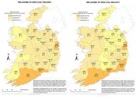 Melanoma of skin 1994-2003 & 2004-2013 annual average