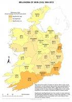 Melanoma of skin 1994-2013 annual average