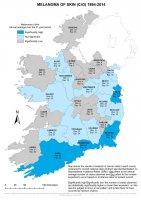 Melanoma of skin 1994-2014 annual average