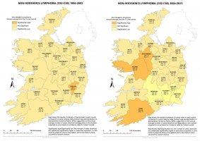 Non-Hodgkin's lymphoma 1994-2003 & 2004-2013 annual average
