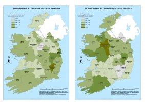 Non-Hodgkin's lymphoma 1994-2004 & 2005-2015 annual average