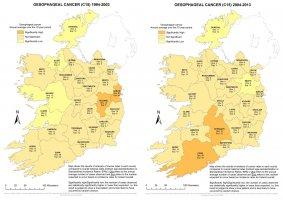Oesophagus 1994-2003 & 2004-2013 annual average