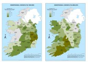 Oesophagus 1994-2004 & 2005-2015 annual averagee