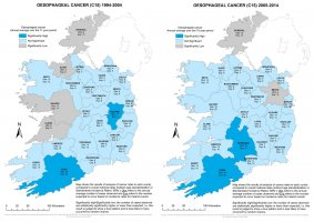 Oesophagus 1994-2004 & 2005-2014 annual averagee