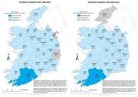 Ovary 1994-2004 & 2005-2014 annual average