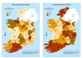 Testis 1994-2006 & 2007-2016 annual average